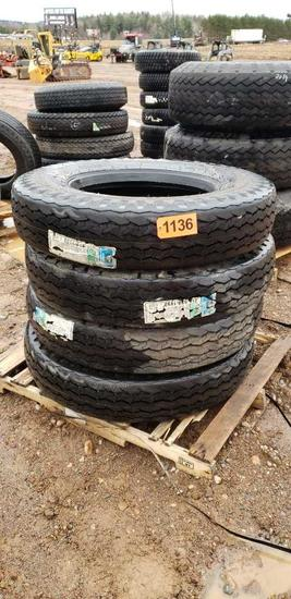 (4) Tires 11-24.5