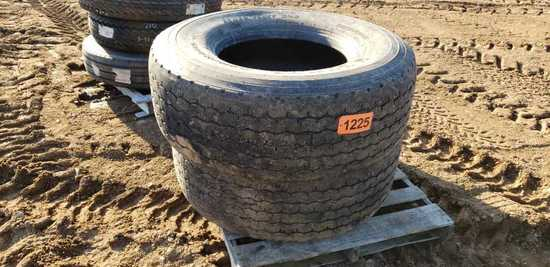 (2) 425/65r22.5 Tires