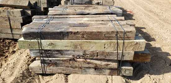 Approximately 50 6x8 Treated Timbers