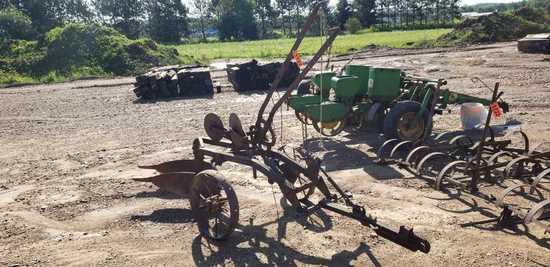 John Deere 2 Bottom Plow Steel Wheels