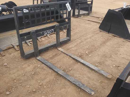"""Unused Skid Steer Forks, Approx 48"""" Long"""