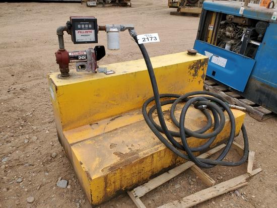 L-shaped Fuel Tank And Pump