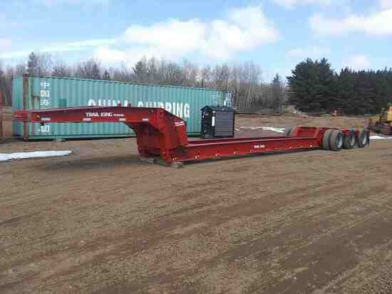 1990 Trail King Ts80hg-483 Rail Trailer