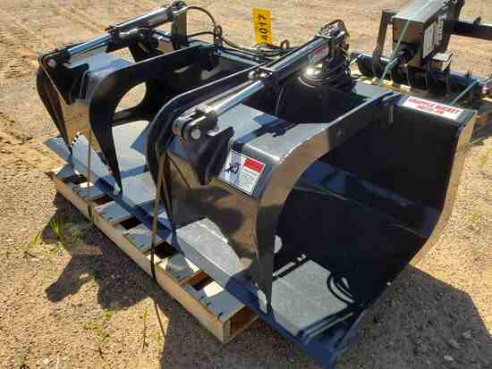 Unused Stout Hd72-fb Skid Steer Grapple Bucket