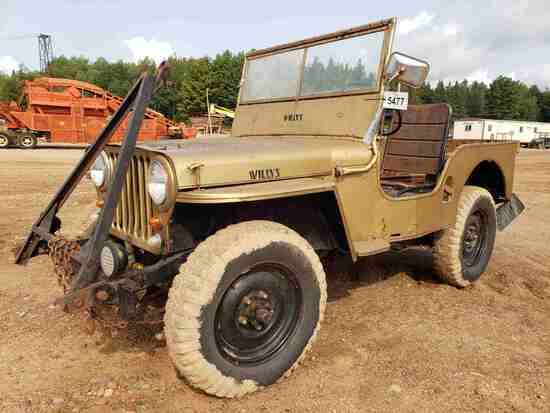1947 Willys Overland Motors Cj-2a Jeep