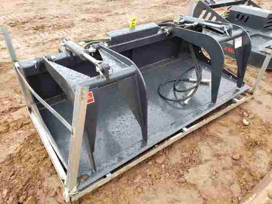 Unused Jct Skid Steer 6' Grapple Bucket