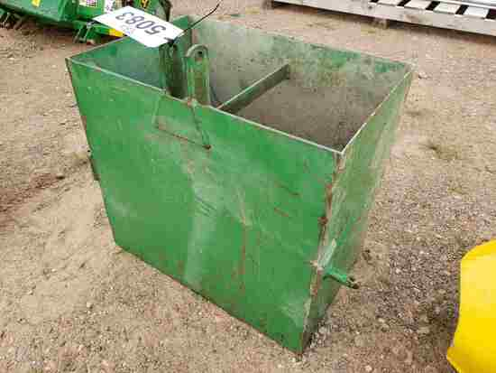 John Deere 3pt Ballast Box- Fits John Deere X595