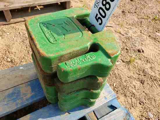 (4) John Deere 20kg(40lb) Suitcase Weights