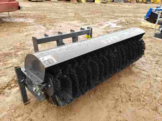 Unused Jct Skid Steer Sweeper Attachment