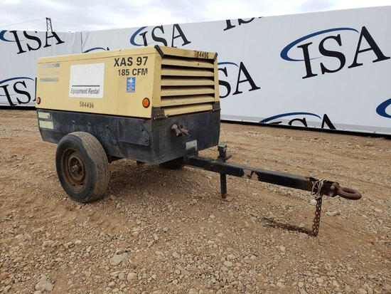 2005 Atlas Copco Xas97 185 Cfm Trailer Air Compres