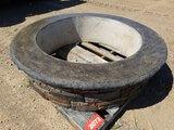 Decorative Concrete Fireplace/flowerbed Circle