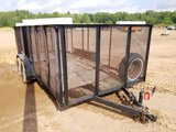 7' X 16' Trailer W/ 4' Ramp And 4' Sides