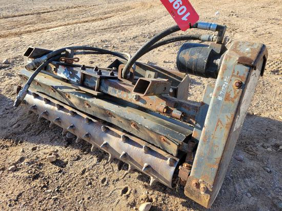 """48"""" Power Rake For Mini Skid Steer"""