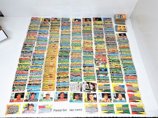 1960 TOPPS Partial Set. (453 cards) Range #1 to 572. EX to MT. agv is Near Mint. GREAT LOT. Includes