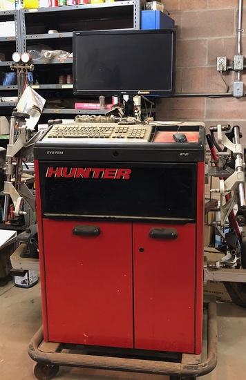HUNTER WT100 LASER ALIGNMENT MACHINE WORK STATION