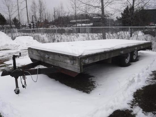 HOMEBUILT 18-FOOT DUAL AXLE TRAILER
