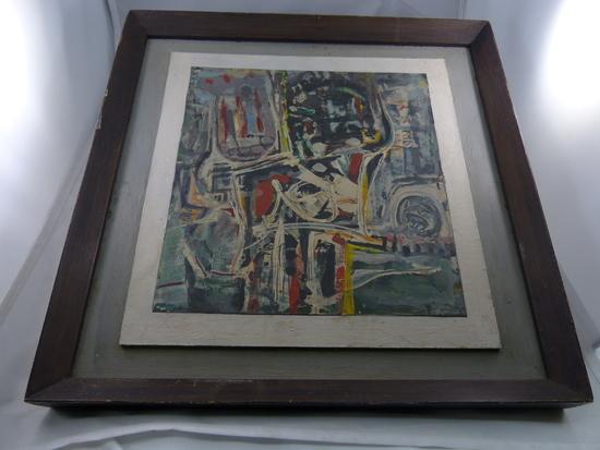 Edward L. Pezanowski Acrylic And Collage Painting