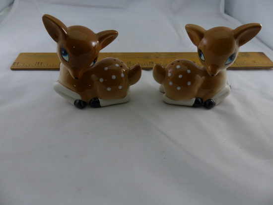 Set of Fawn Deer  Salt and Pepper Shakers
