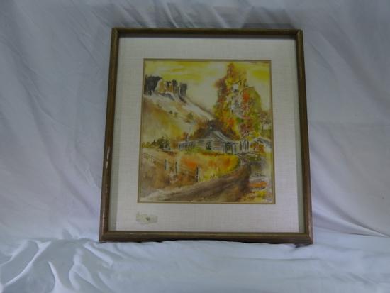 Vic De Beck Cabin Watercolor Painting