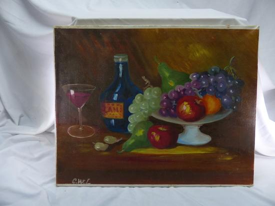 Fruit Bowl Oil Painting C.W.L.