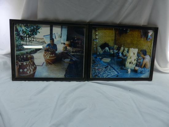 Balinese Wood carver & Basket Weaver Pictures