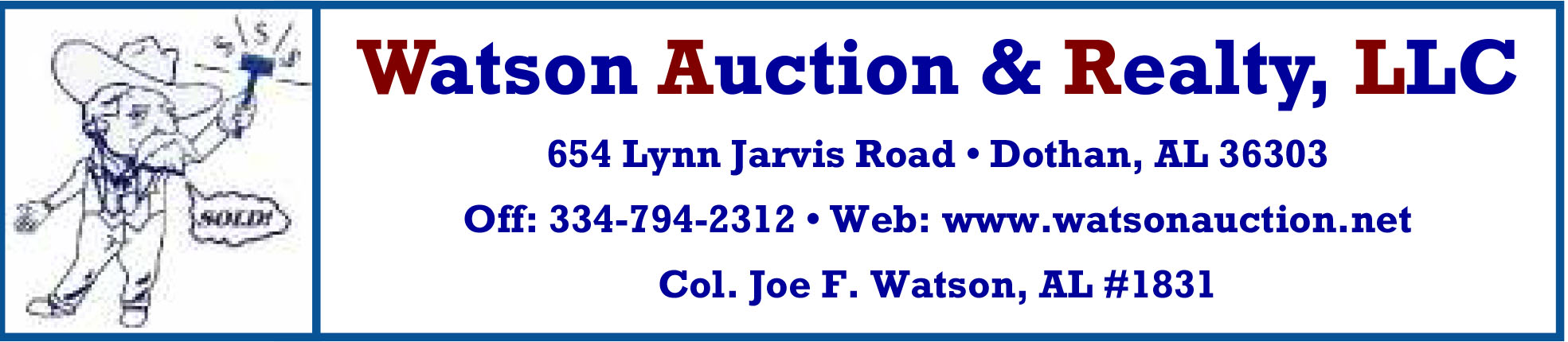 Watson Auction & Realty, LLC