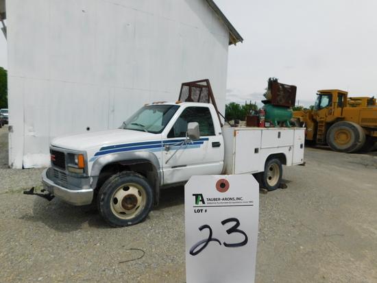 (1984) GMC 3500 Diesel Utility Truck