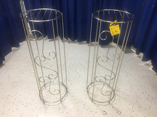 (2) Wire Fern Columns