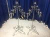 (2) 7 Light V-Shaped Adjustable Height Candelabras