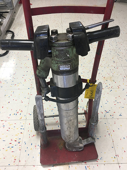 Sullair 90lb Air Jack Hammer, with Cart
