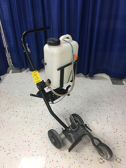 Walk Behind Cement Saw Cart for Dolmar Saws