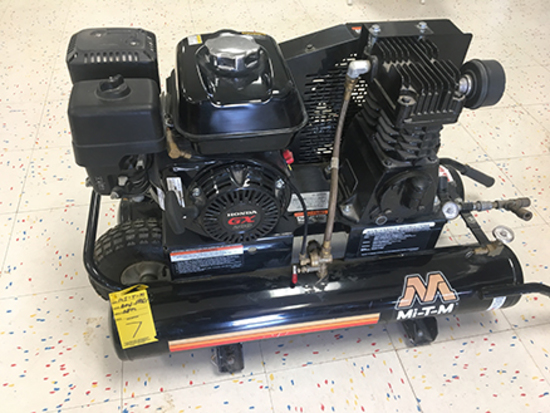 "Mi-T-M AMI-PH65-08M, 175 PSI Twin Tank Air Compressor, Honda Engine, ""As New"""