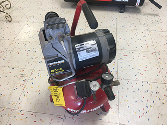 Porter Cable CPF 23400P-2 135 PSI, 4 gal, 3 hp, Electric Air Compressor