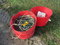 Plastic Tub, Pans and Cords