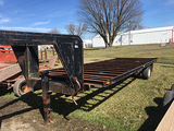 Gooseneck 95in x 21ft single axle dually hay trailer, with title