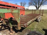 Homemade 85inx20+3 steel bed gooseneck trailer, 8 bolt wheels, lights & title