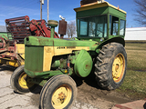 JD 830 Diesel with cab, rear weights, 18.4-34 tires, PTO, seller says will run, S# 8306006