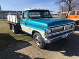 1970 F350 dually, flat bed and hoist,6cyl, 4spd, repainted,Looks and drive good