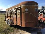 16ft Bumper Pull Livestock Trailer