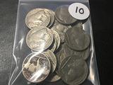 Lot of (19) Full Date Buffalo Nickels