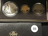 1989 Congressional Comm. 3 Coin Proof Set