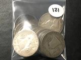 12x$ Franklin Half Dollars