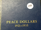 3x$ 1922, 1923-S, 1925 Peace Dollars (In Book)