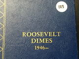 Book of (49) Silver Roosevelt Dimes 1946-