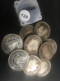 10x$ 1 oz. Silver Morgan Dollar Rounds