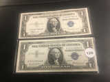 Lot of 2 1935-A & 1957 $1 Silver Certificates