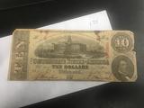1863 $10 Confederate States of America (Richmond 10)