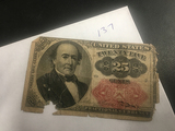 Series of 1874 25 Cent Fractional Currency
