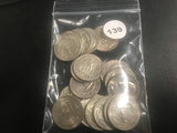 Lot of 19 Mixed Date Washington Silver Quarters, Better Grade