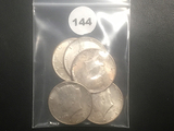 Lot of 5 1964 Silver Kennedy Halves